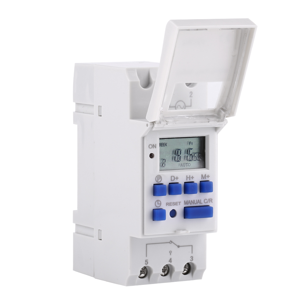 12-220V-LCD-Interrupteur-Horaire-Digital-Minuterie-Programmable-16ON-8OFF-16OFF miniature 24