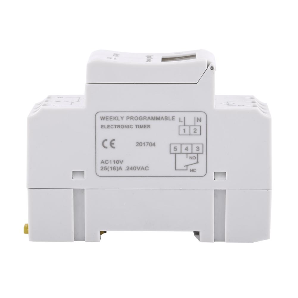 LCD-Programmateur-Minuterie-Numerique-Hebdomadaire-Commutateur-De-Relais miniature 20