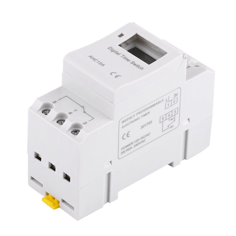 12-220V-LCD-Interrupteur-Horaire-Digital-Minuterie-Programmable-16ON-8OFF-16OFF miniature 27