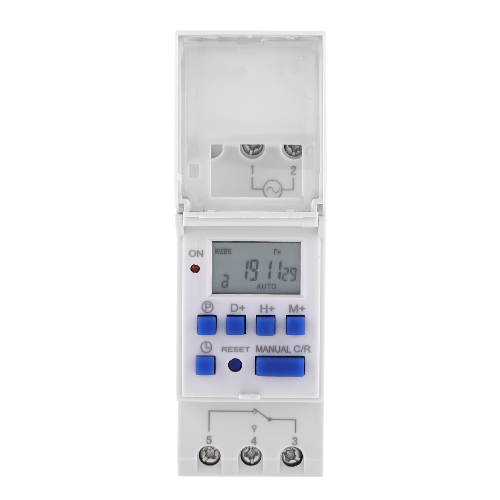12-220V-LCD-Interrupteur-Horaire-Digital-Minuterie-Programmable-16ON-8OFF-16OFF miniature 29