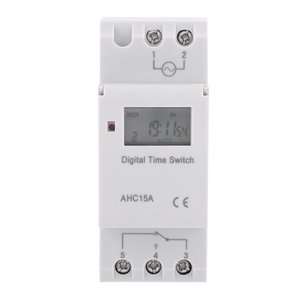 12-220V-LCD-Interrupteur-Horaire-Digital-Minuterie-Programmable-16ON-8OFF-16OFF miniature 30