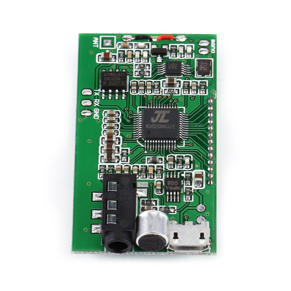 Lcd Fm Transmitter Digital Module Dsp Pll Wireless Stereo Microphone 8w With Image