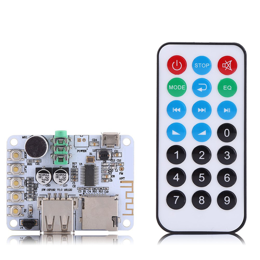 5V Bluetooth 2.1 Wireless Audio Receiver Board with USB//TF Card Decoding TE760