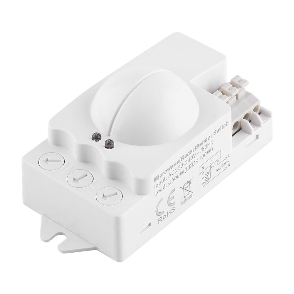 360 ° Radar Mikrowellen Smart Sensor Bewegungsmelder Wei PIR 12 24V AH505