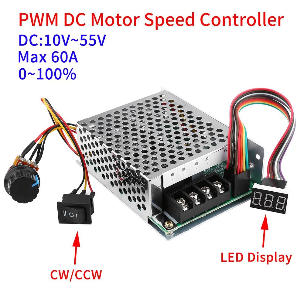 Dc10v 12v 24v 48v Pwm Dc Motor Speed Controller Cw