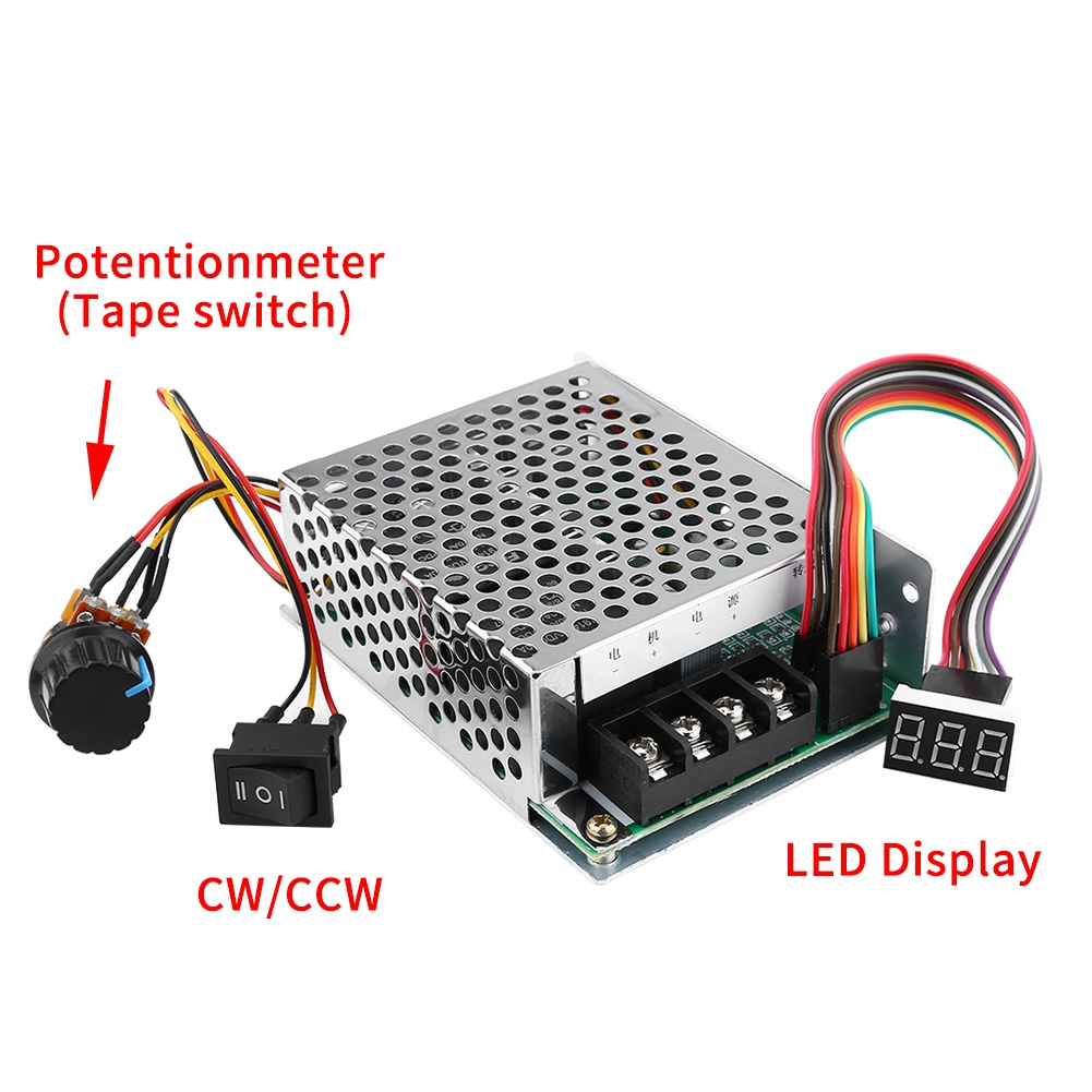 Led display 12v 24v 48v pwm dc motor speed for 12v dc motor controller