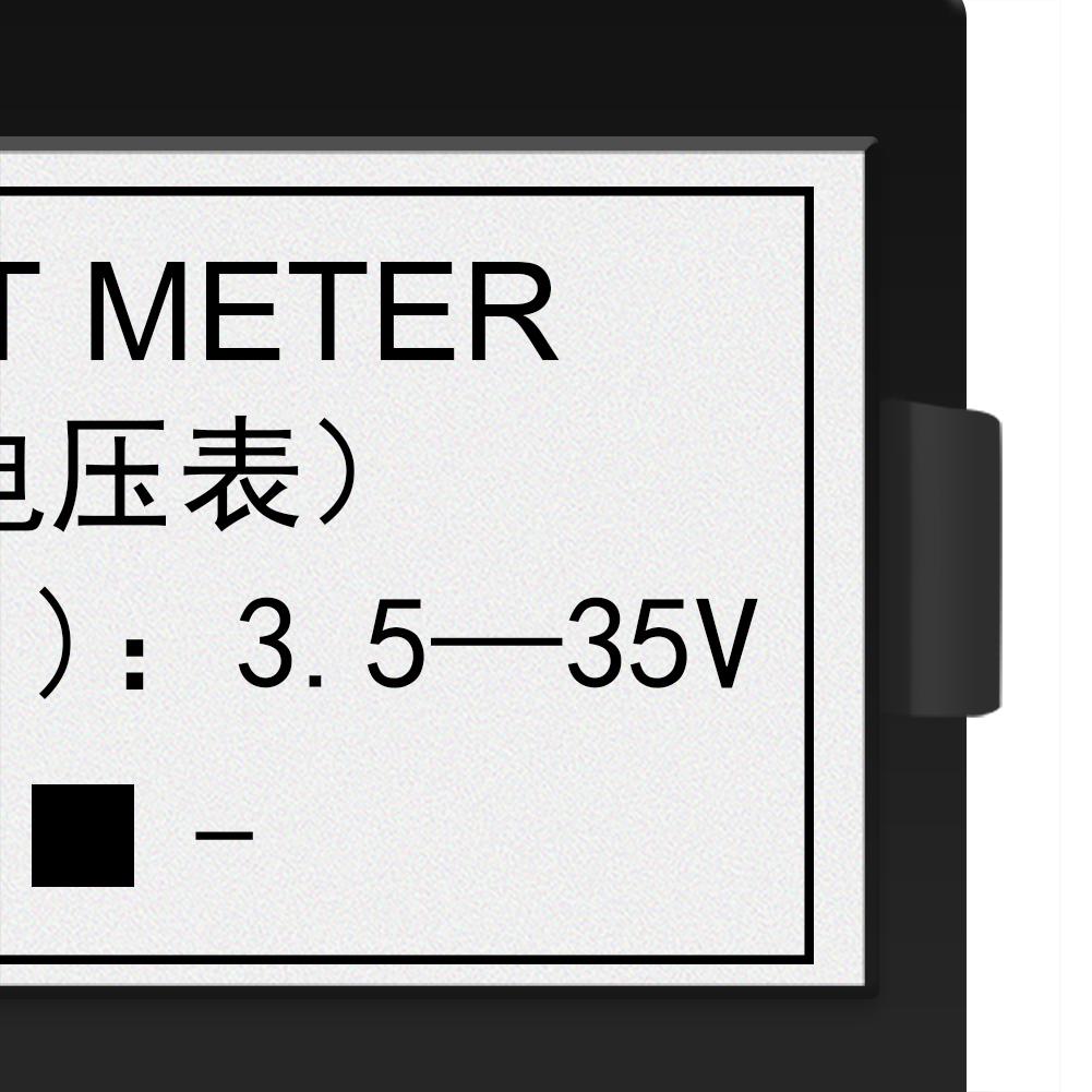 2-draht Mini DC 3.5-35V Voltmeter LED Digital Display Panel ...