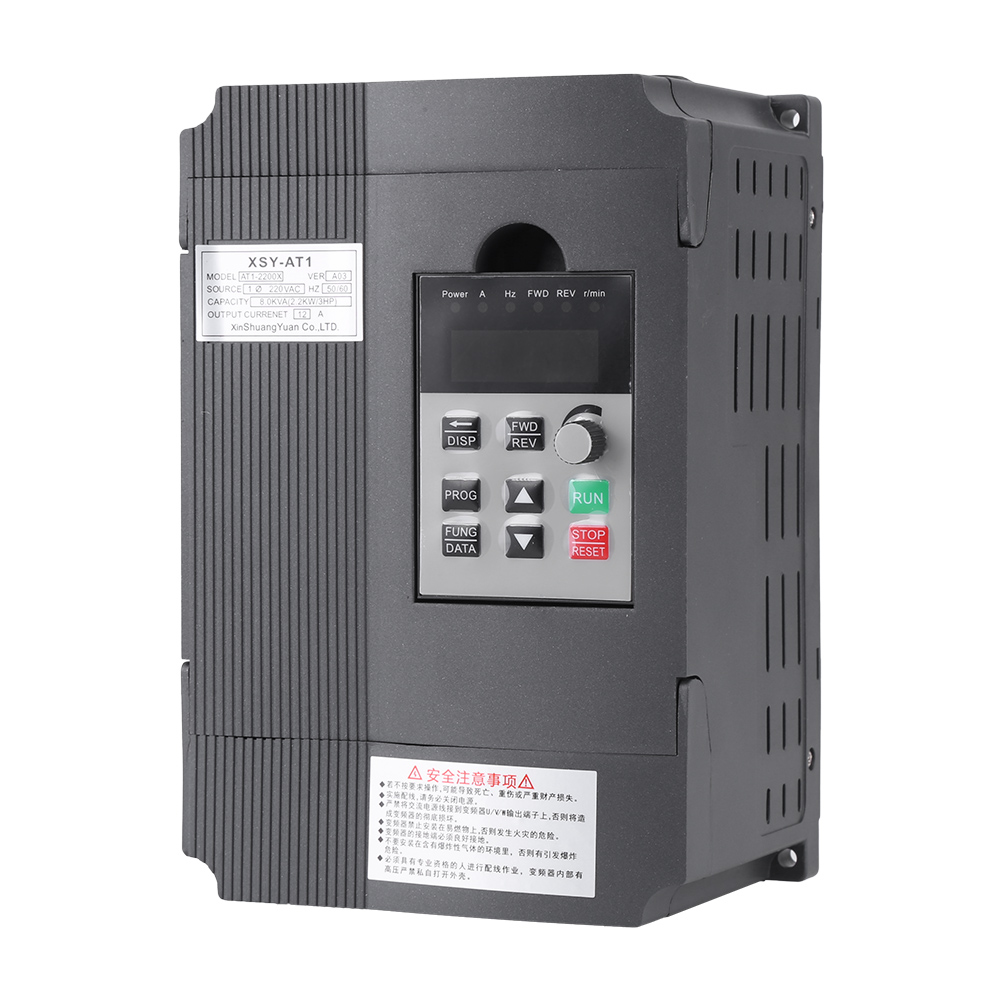 220V Variable Frequency Drive VFD Speed Controller for 3-phase 2.2kW ...