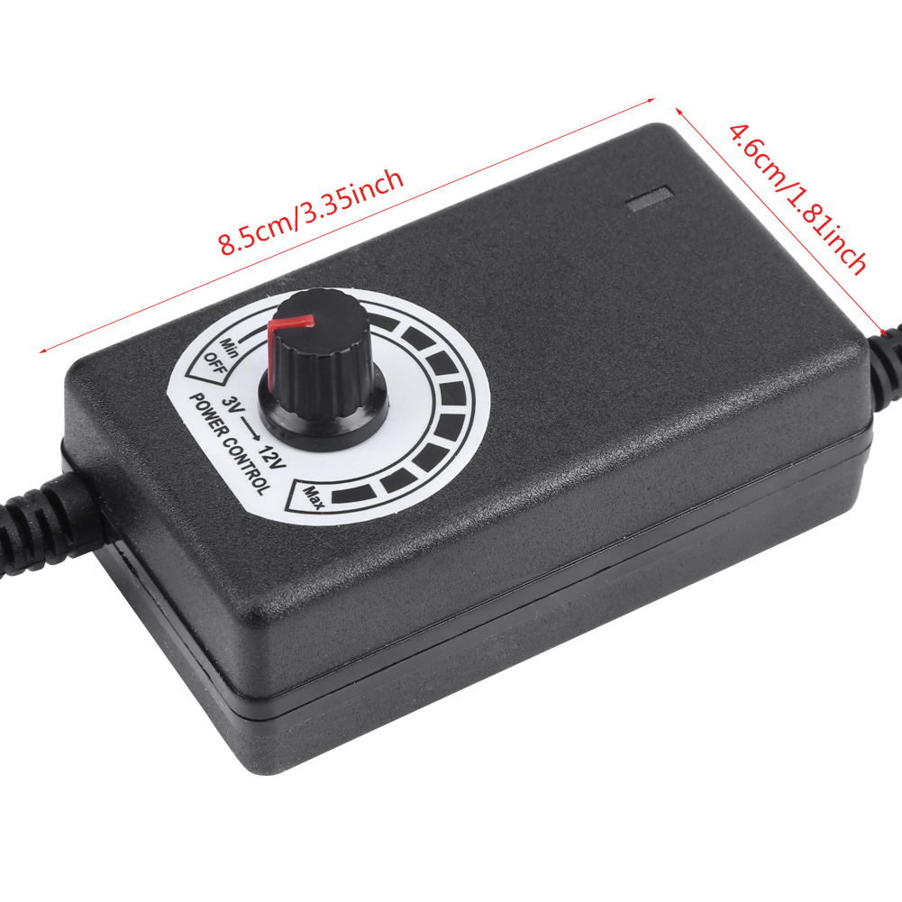Ac To Dc Adapter 3 12v 2a Adjustable Power Supply Motor