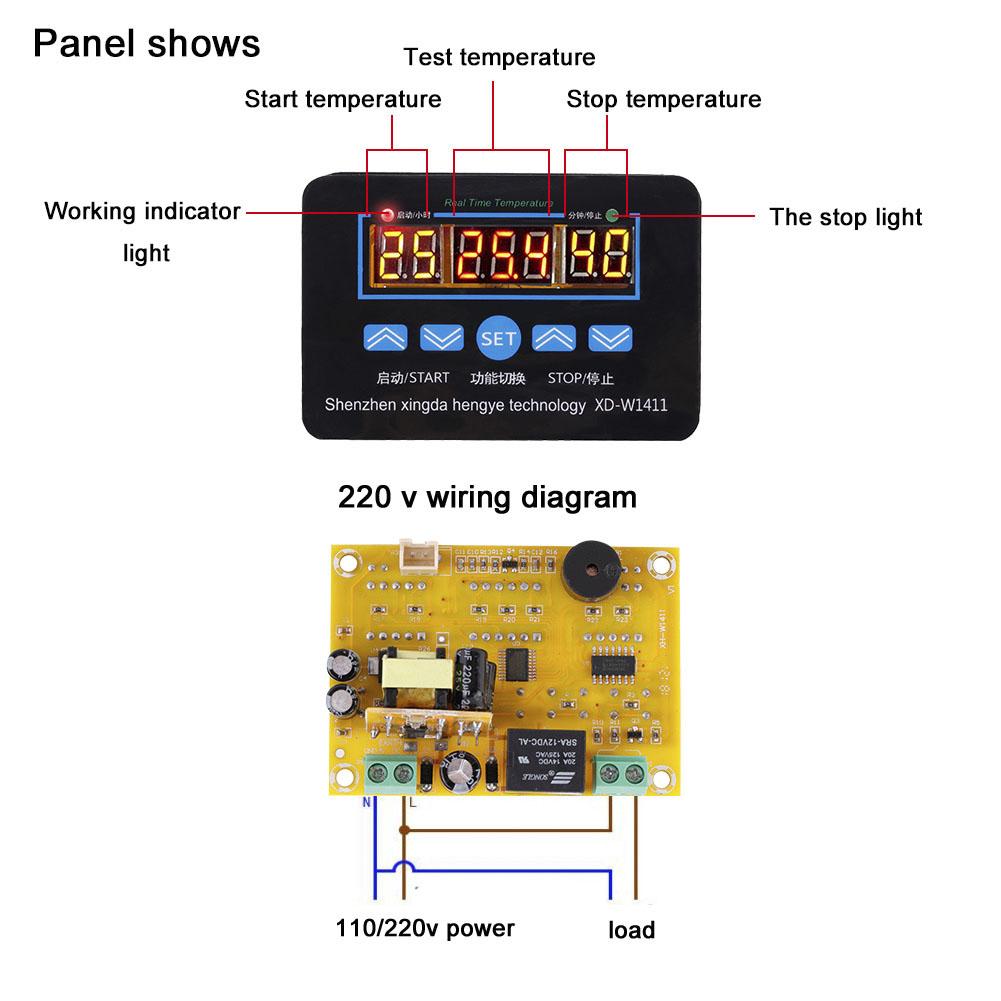 12v 220v Digital Thermometer Temperaturregler Diy Bausatz Termostat Electronic Circuit Diagram
