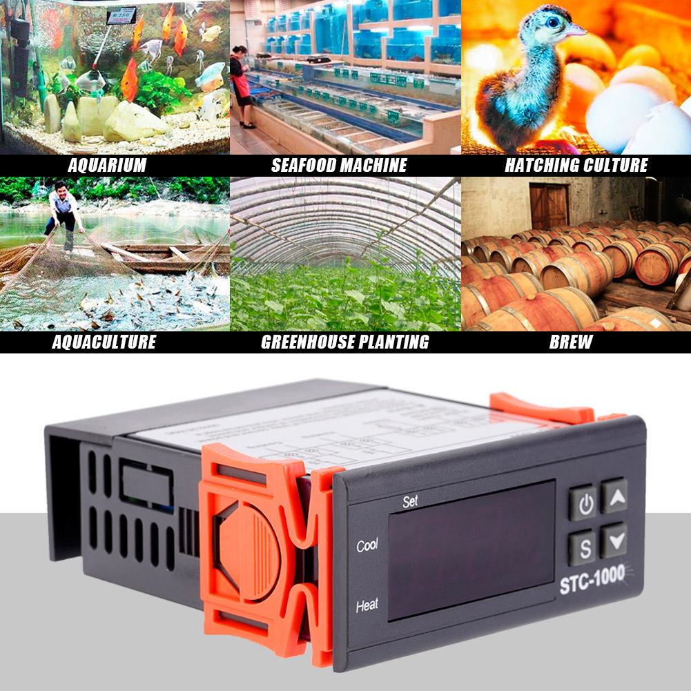 Mini Stc 1000 Digital Temperature Controller Thermostat Heat Cool Regulator Stc1000
