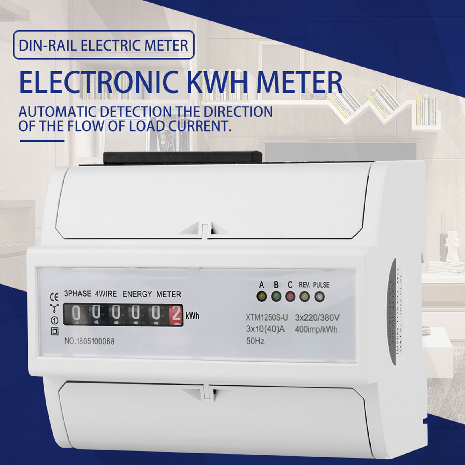 3x 220 380v 2080a Digital 3 Phase 4 Wire 7p Din Rail Electric Kwh Electrical Technology How To A 3phase Meter From The Supply 20 80