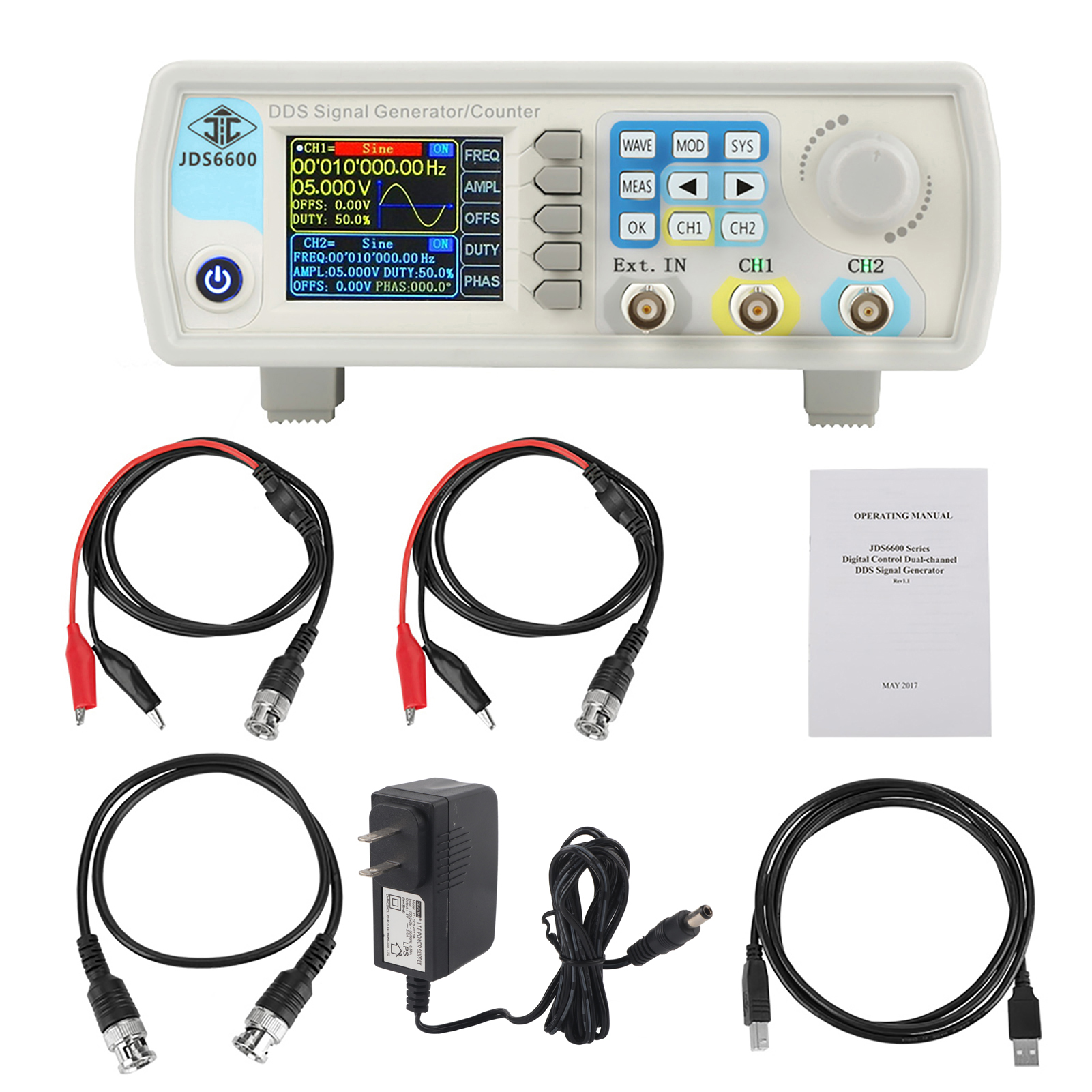 Jds6600 Digital Dds Signal Generator Counter Sine Frequency Ac100 Pulse Control By Ic