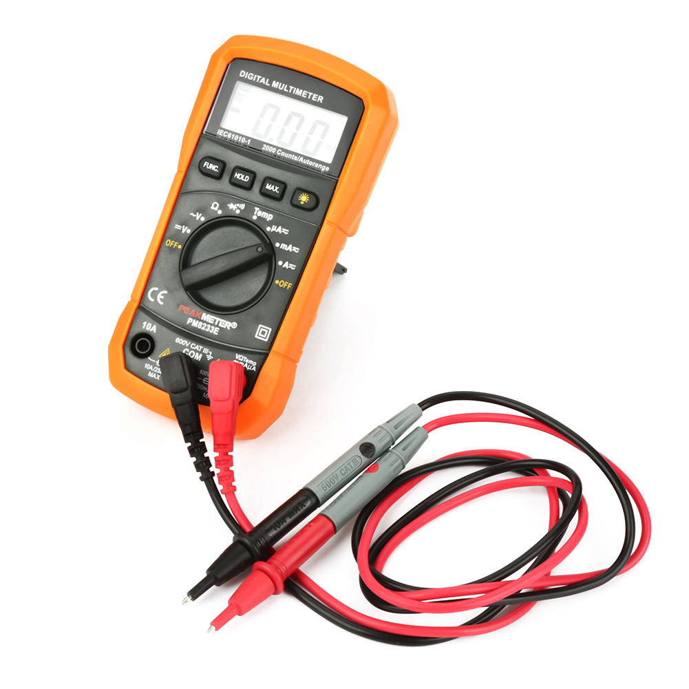 PEAKMETER-PM8233E-Auto-Ranging-Digital-Multimeter-2000Counts-Resistance-Meter