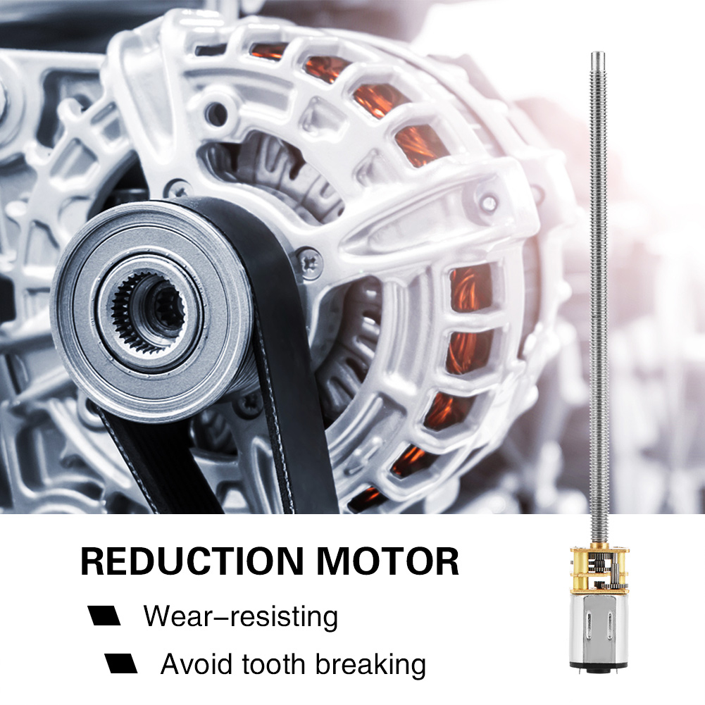 DC 6//12V N20 Gear Box Reduction Motor With Long Output Shaft M4 x 100mm
