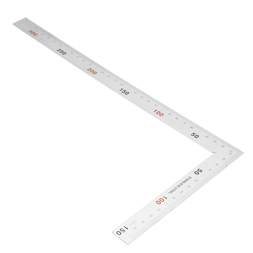 Stainless Steel Double-Scale 90 Degree Right Angle Ruler Measurement Square Tool