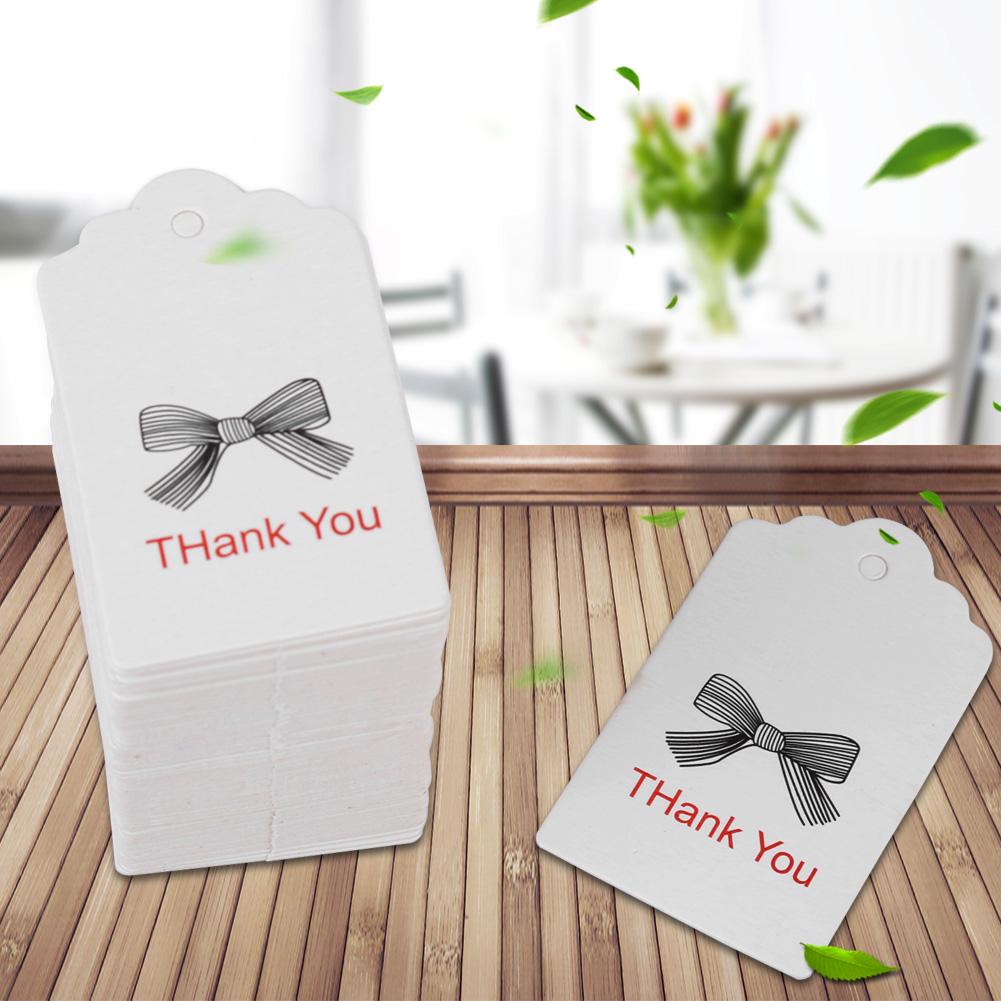 100pcs Lovely White DIY Handmade Hang Label Wedding Favor Gift Cards ...