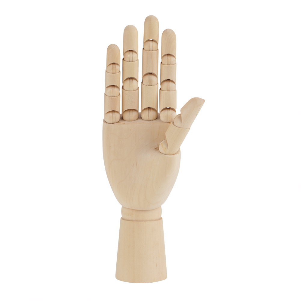 artist wooden hand model movable fingers sketching drawing aid