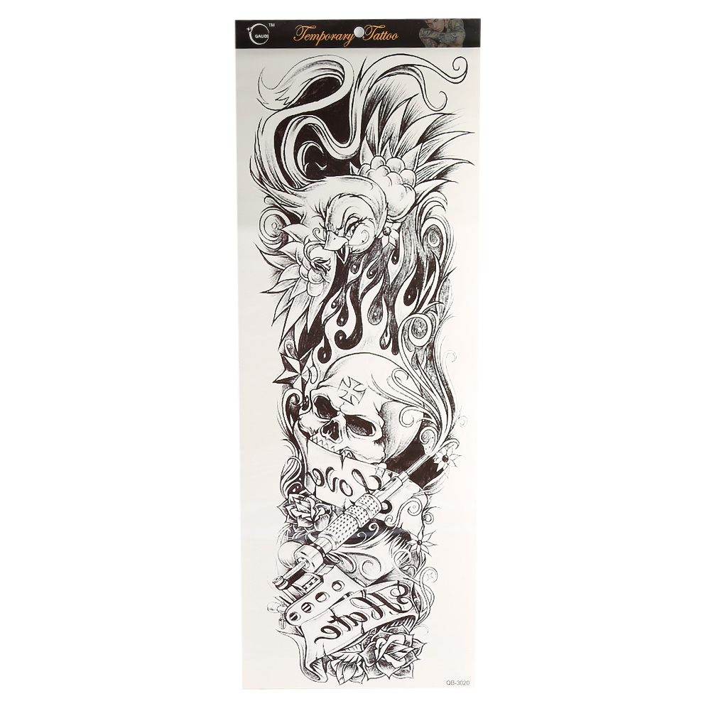 Large full arm sleeve temporary tattoo stencil sticker for Temporary tattoo sticker