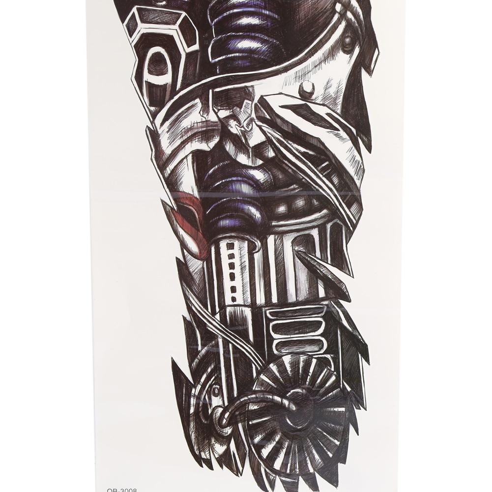 large full arm sleeve temporary tattoo stencil sticker body art 3d