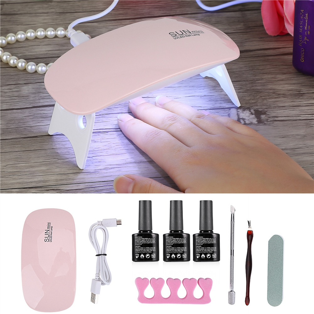 Portable Mini UV LED Gel Secador De Uñas Kit Herramientas De ...