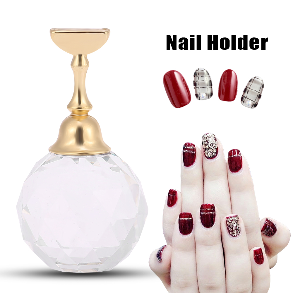 Magnetic Nail Art Practice Display Stand False Nail Tip Holder ...