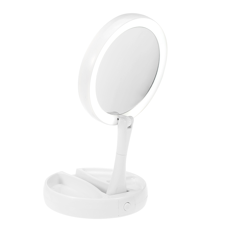 LED Lighted Makeup Mirror10X Magnifying Beauty Stand Bathroom Mirror ...