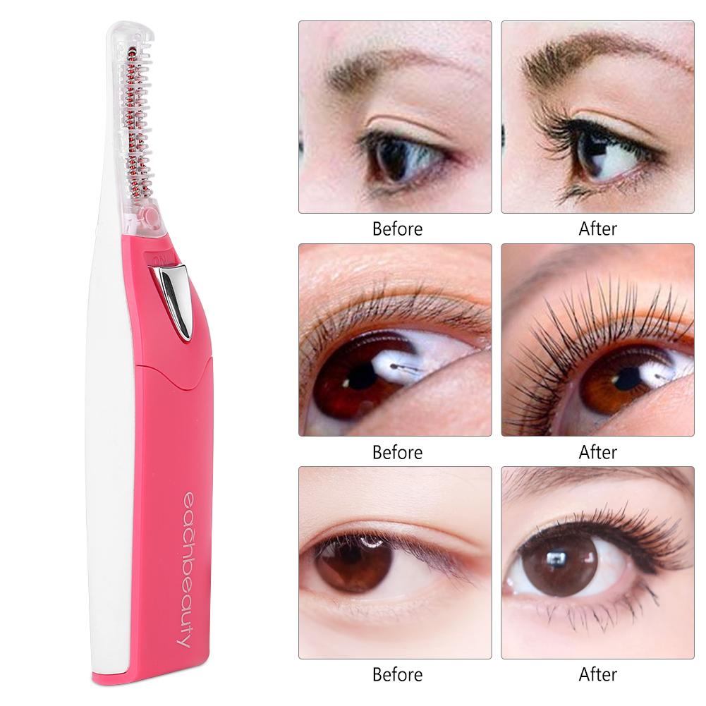 Electric Heated Eyelash Curler Long Lasting Natural Eye Lashes