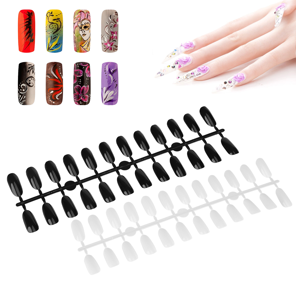 False Nail Art Tips Color Card Oval White Practice Display 240 ...
