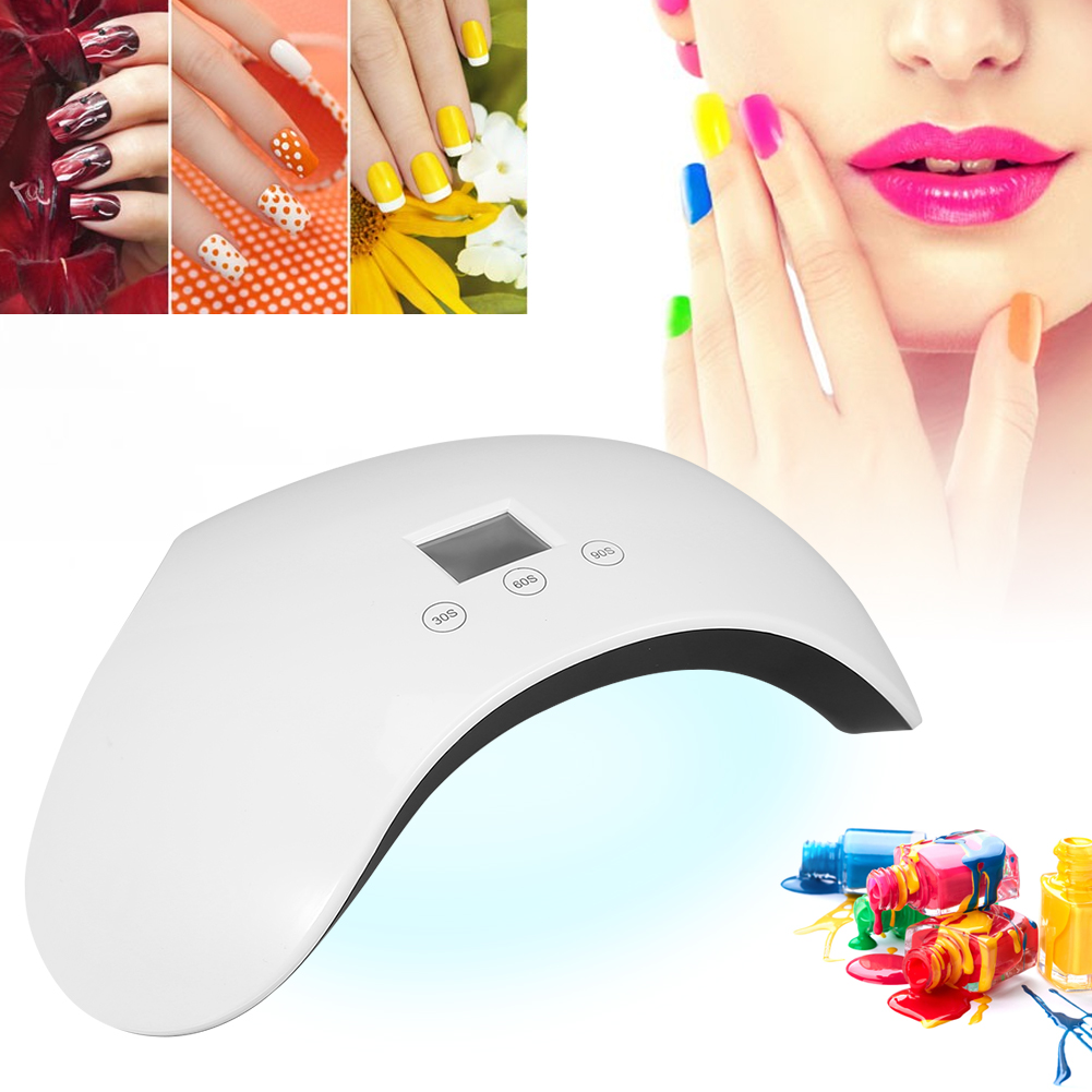 24W LED UV Nail Dryer Gel Polish Lamp Light Curing Manicure Machine ...