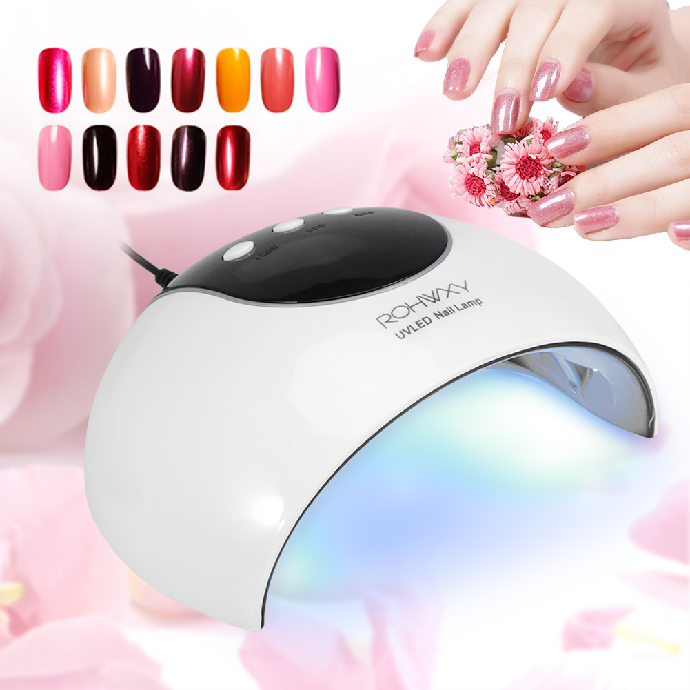 24w Led Uv Nail Lamp Light Lcd Gel Polish Dryer Manicure