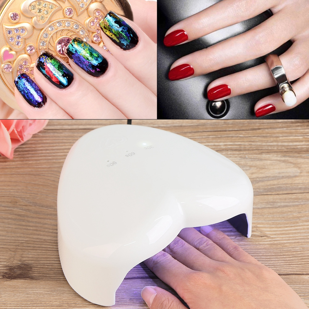 Mini USB 18W LED UV Gel Nail Polish Dryer Curing Lamp Heart Nail ...
