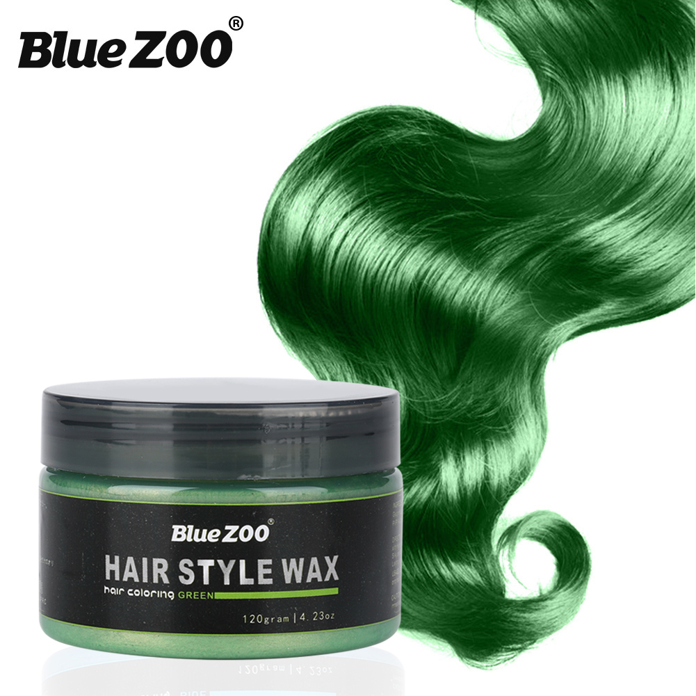 Temporary Hair Color Blue Zoo Wax Mud Dye Styling Cream Disposable ...