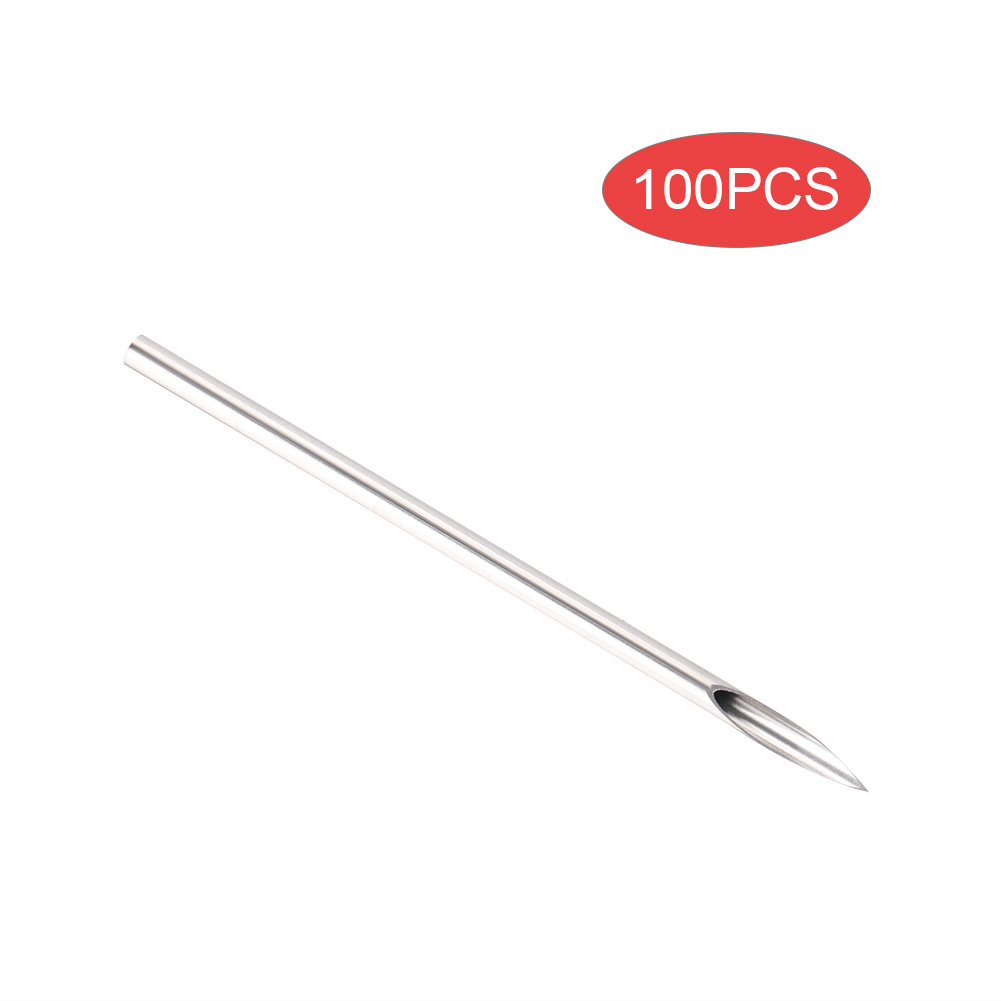 100pcs Piercing Needles Tattoo Sterilized Disposable Hollow Needle