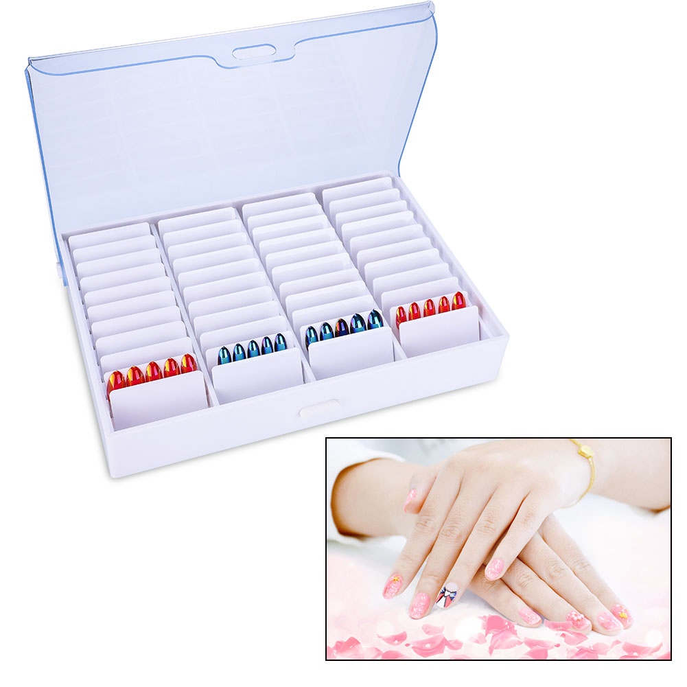 Empty Nail Art Storage Box Rhinestone Bead Gems Stuffs Nail Tips