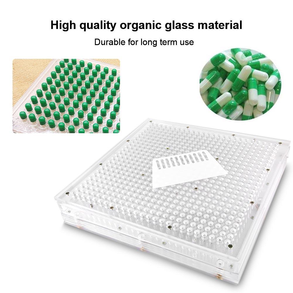 600-Holes-Capsule-Filler-Size-0-1-Capsule-Filling-Machine-Flate-Tool-Food-Grade