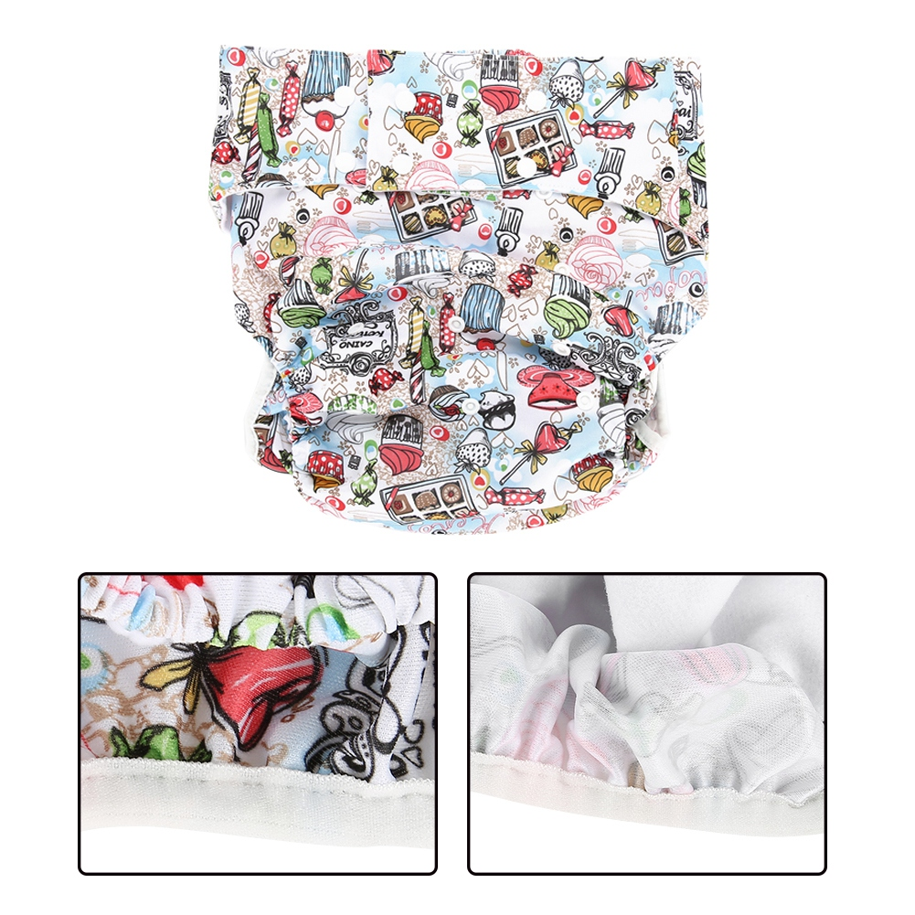 Adult-Adjustable-Washable-Diaper-Insert-Nappy-Infant-Cloth-Diapers-Reusable miniature 10
