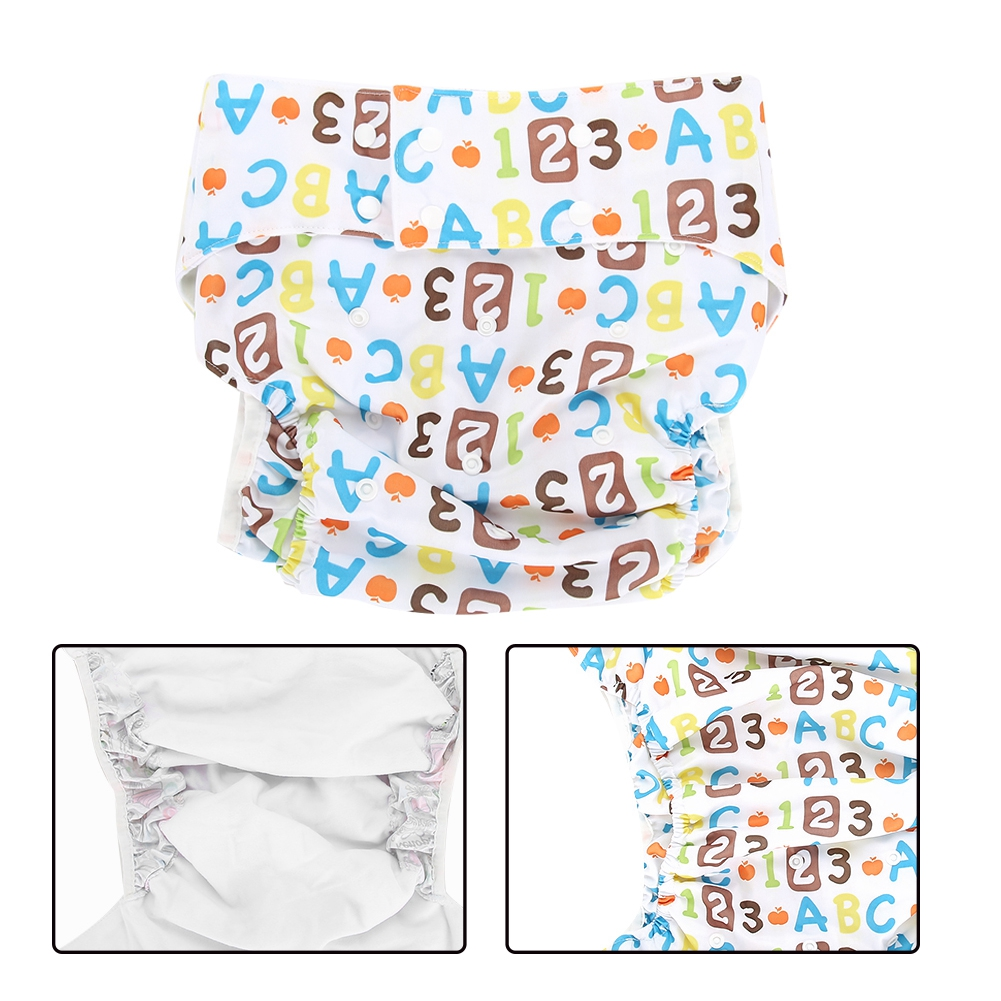 Adult-Adjustable-Washable-Diaper-Insert-Nappy-Infant-Cloth-Diapers-Reusable miniature 16