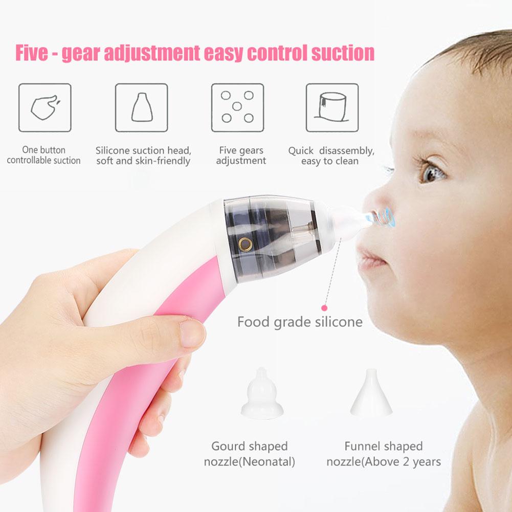 Elektrischer Nasensauger Baby Nasensauger Staubsauger Aspirator Wasserdicht TP