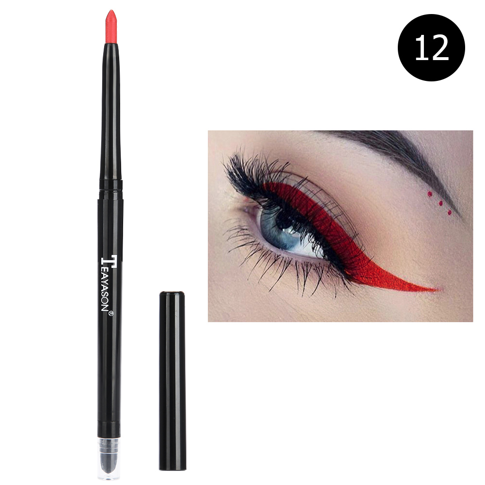 12-colors-Glitter-Lip-liner-Eye-Shadow-Pencil-Cosmetic-Makeup-Pen-Eyeliner-Tool thumbnail 44