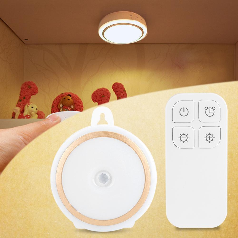 kabellos wandleuchte led nachtleuchte nachtlampe mit fernbedienung ebay. Black Bedroom Furniture Sets. Home Design Ideas