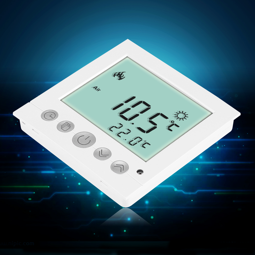 digital lcd fu bodenheizung bodenheizung thermostat. Black Bedroom Furniture Sets. Home Design Ideas