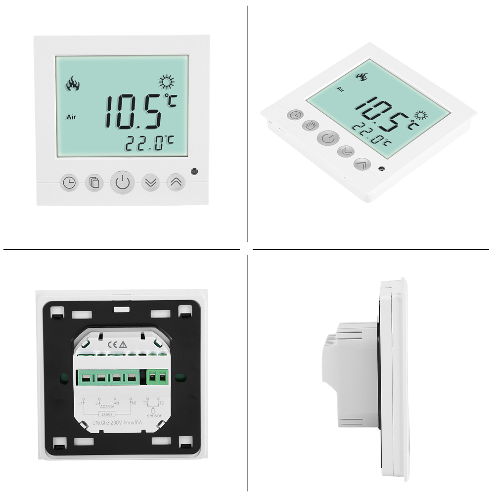digital lcd fu bodenheizung bodenheizung thermostat programmierbar raumregler mj ebay. Black Bedroom Furniture Sets. Home Design Ideas