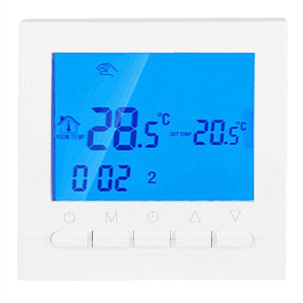 digital lcd screen wireless heizung thermostat heizthermostat wlan app steuern ebay. Black Bedroom Furniture Sets. Home Design Ideas