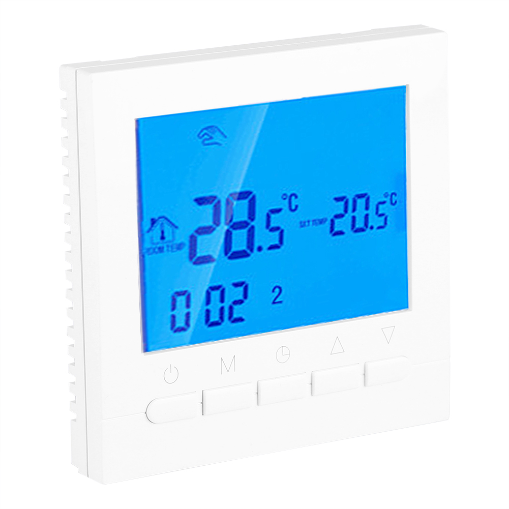 digital lcd screen wireless heizung thermostat. Black Bedroom Furniture Sets. Home Design Ideas
