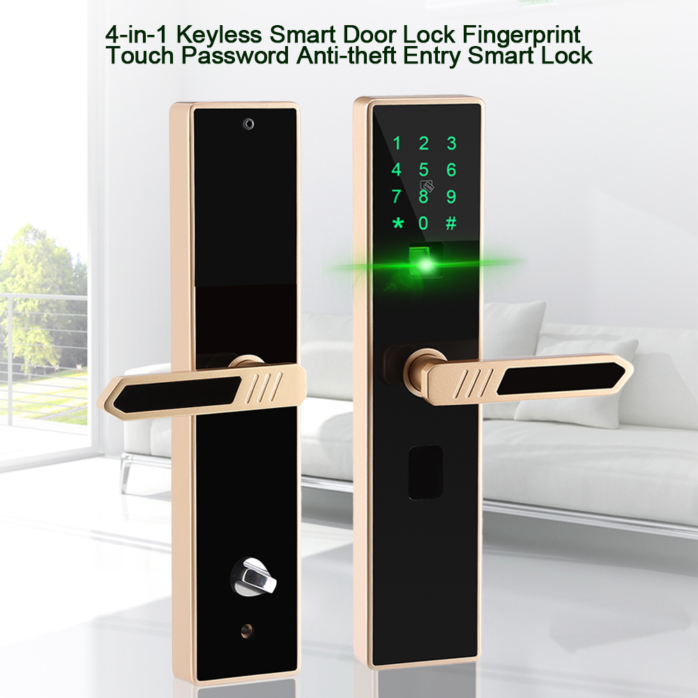 fingerabdruck touch smart t rschloss elektronisch 4 in 1 keyless anti diebstahl 8784254425223 ebay. Black Bedroom Furniture Sets. Home Design Ideas