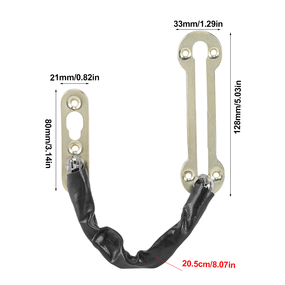 1Pc Door Chain Lock Security Door Gate Gaurd Chain Safety Lock ...