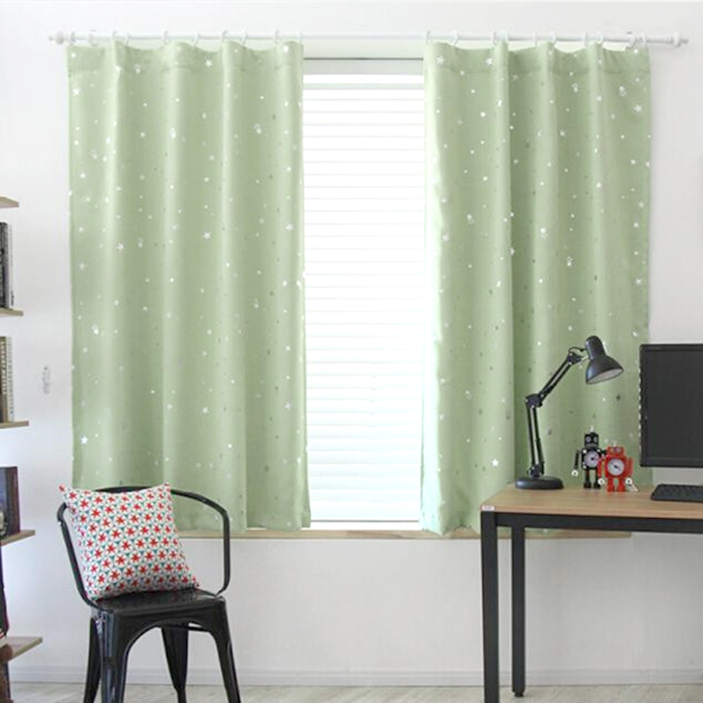 Star Pattern Bedroom Darkening Curtains Blackout Window Curtain ...