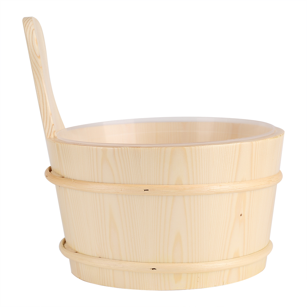 bathroom natural wooden bucket w ladle set for sauna spa bath accessories 8784254517348 ebay