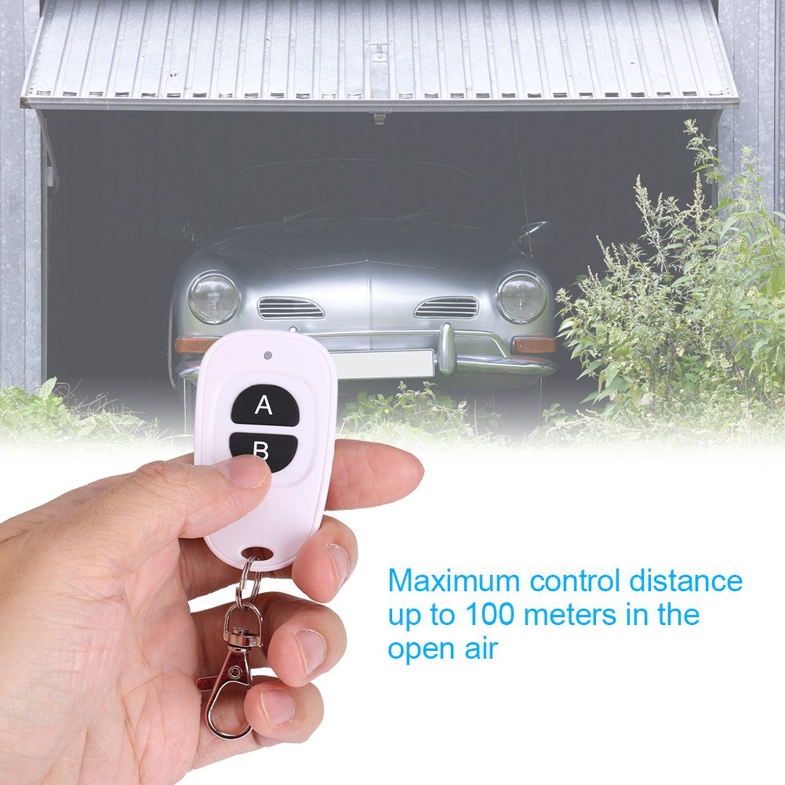 433MHz-EV1527-RF-Wireless-Transmitter-Garage-Door-1-4-Channel-Key-Remote-Control miniature 29